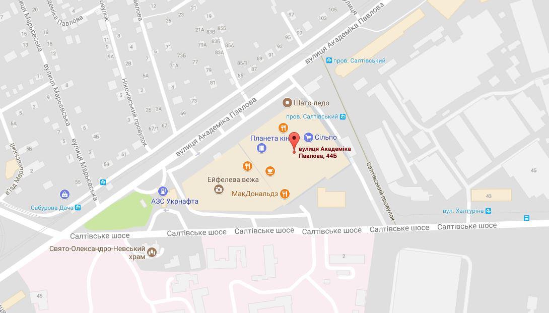 Карта проезда к ТЦ Французкий бульвар