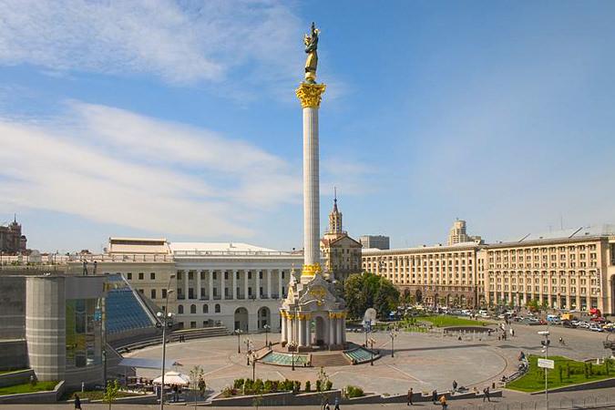 Площадь Независимости (Майдан Незалежности). Киев