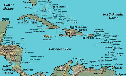 Группы островов Вест-Индии