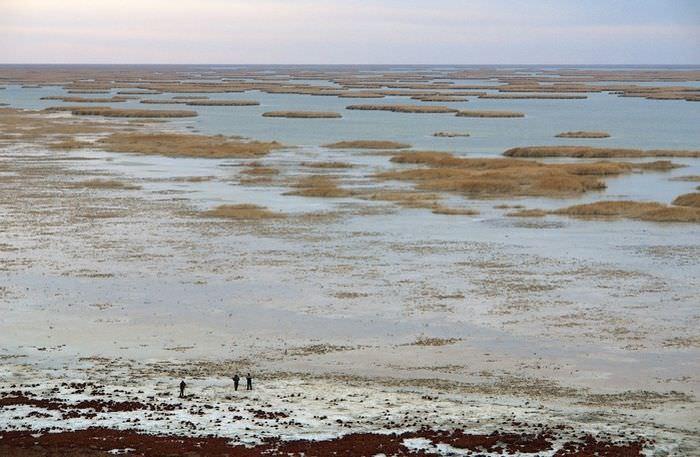 Высыхающее Аральское море