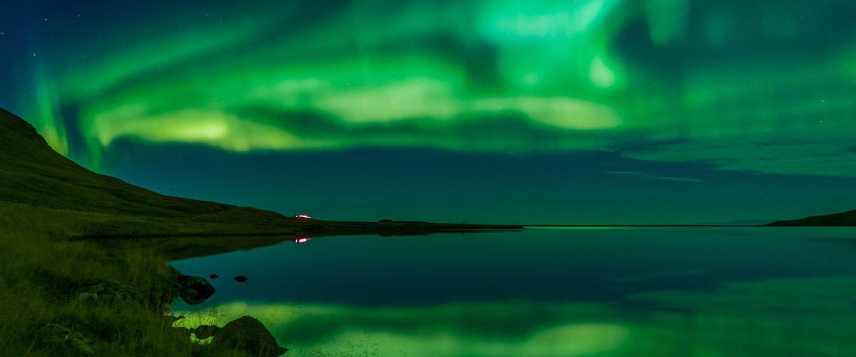 Природное явление в Исландии