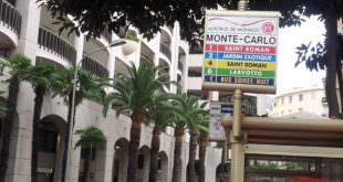 Автобусная остановка в Монако.