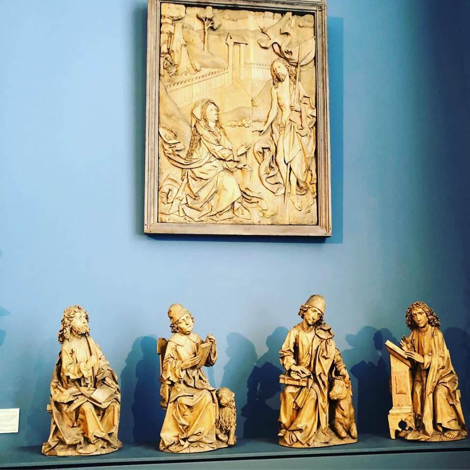 Мария Магдалина и 4 Евангелистов (конец 15-ого века).