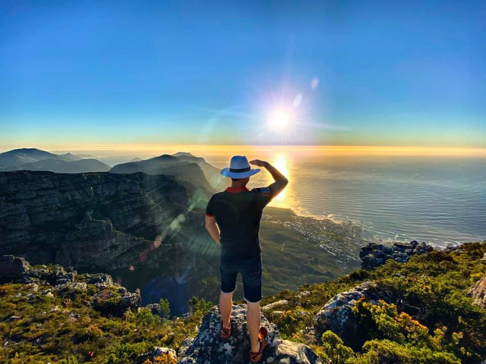 Вид со столовой горы в Кейптауне