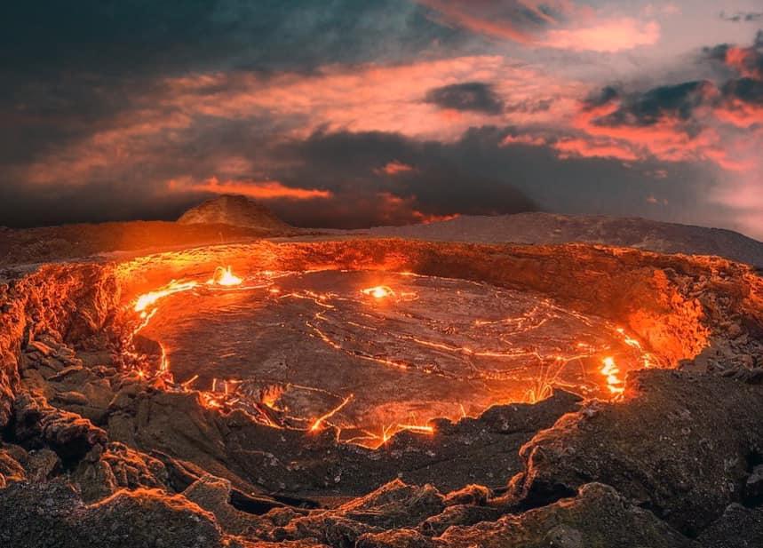Erta Ale - один самый активный вулкан Африки